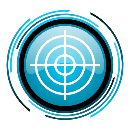 target blue circle glossy icon