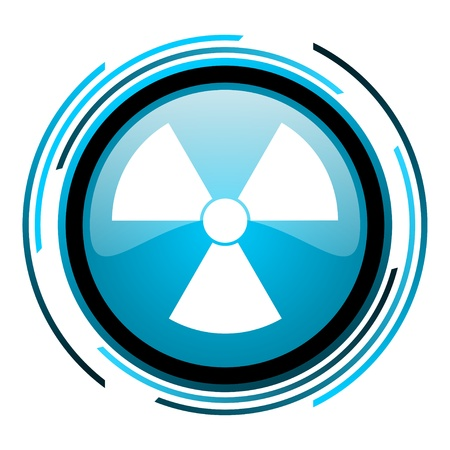 radiation blue circle glossy icon  photo