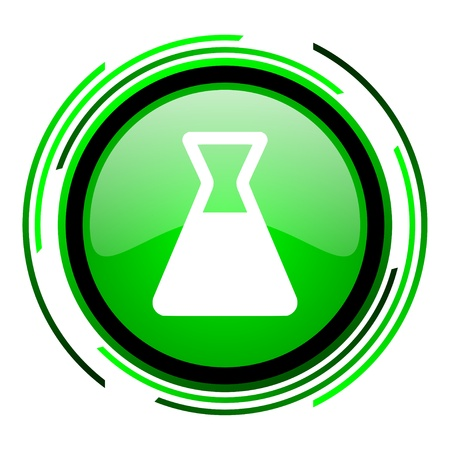 chemistry green circle glossy icon  photo