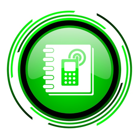phonebook: phonebook green circle glossy icon