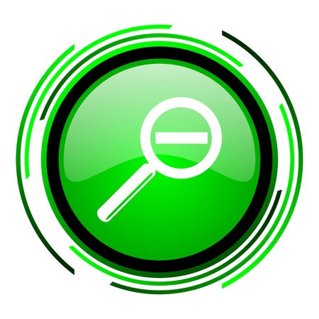 magnification green circle glossy icon  photo