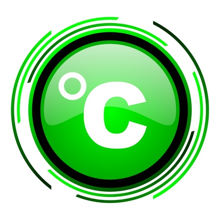 celsius: celsius green circle glossy icon