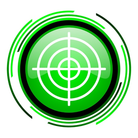 target green circle glossy icon Stock Photo - 20099868
