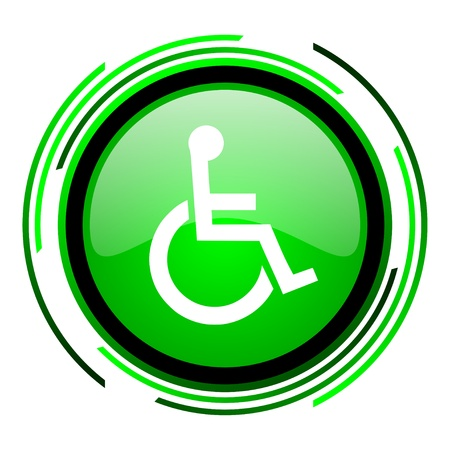 accessibilit�: accessibilit� cerchio verde lucido icona
