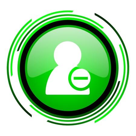 remove contact green circle glossy icon  photo
