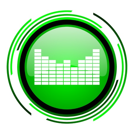sound green circle glossy icon  photo