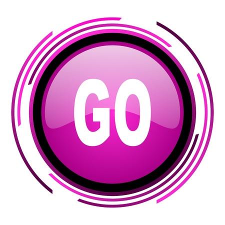 go icon Stock Photo - 20118423
