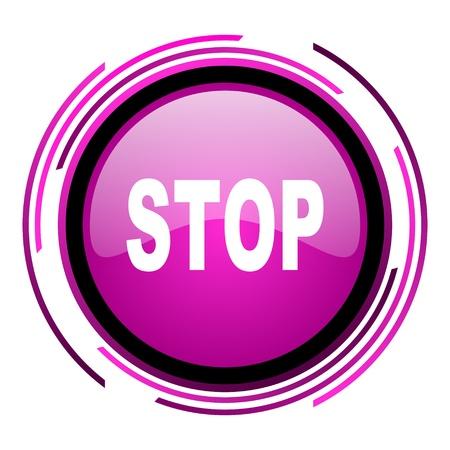stop icon Stock Photo - 20118451