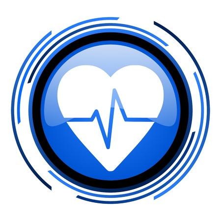 pulse circle blue glossy icon  photo