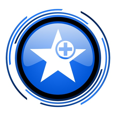 star circle blue glossy icon