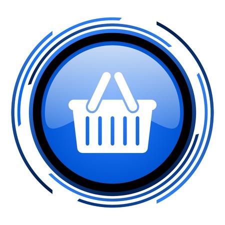 shopping cart circle blue glossy icon  photo