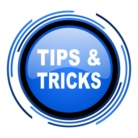 tips circle blue glossy icon  photo