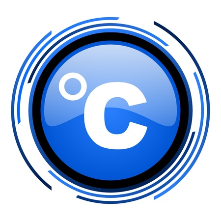 celcius: celsius circle blue glossy icon