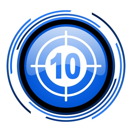 target circle blue glossy icon Stock Photo - 20205428