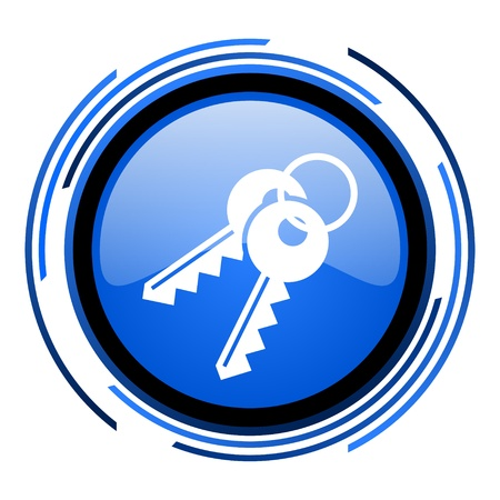 keys circle blue glossy icon  photo