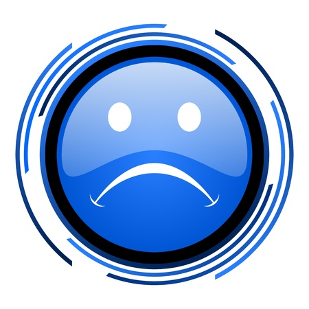cry circle blue glossy icon