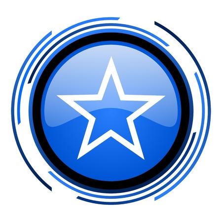 star circle blue glossy icon Stock Photo - 20205505