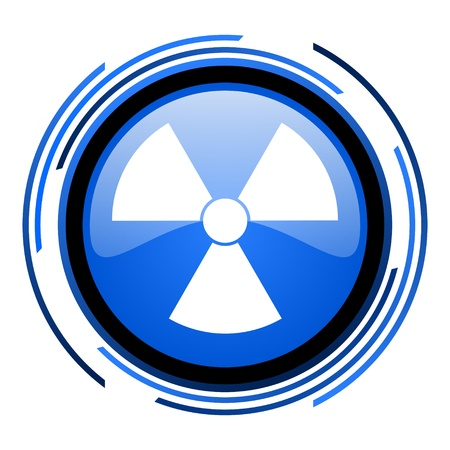 radiation circle blue glossy icon Stock Photo - 20205384