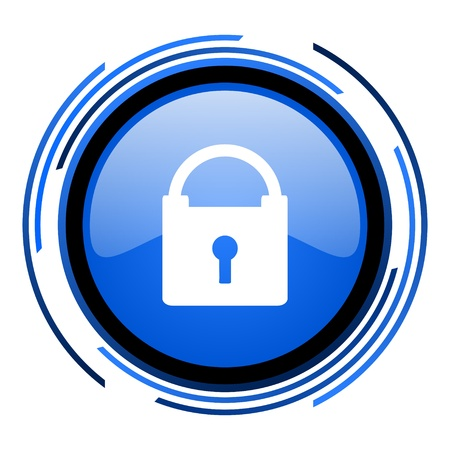 protect circle blue glossy icon  photo