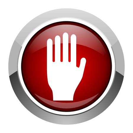 the coachman: stop icon  Stock Photo