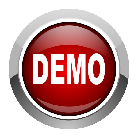 pushbuttons: demo icon  Stock Photo