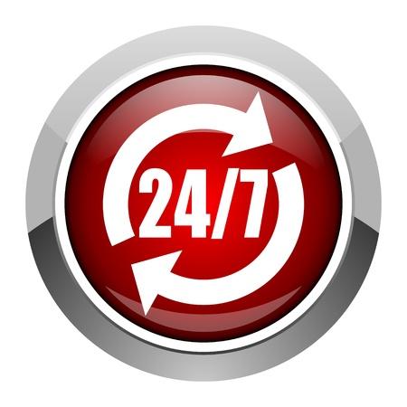 247 service icon  photo