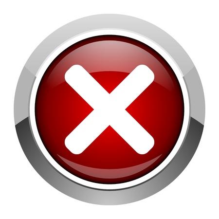 cancel icon Stock Photo - 20206854