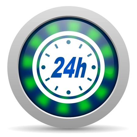 24h: 24h icon   Stock Photo