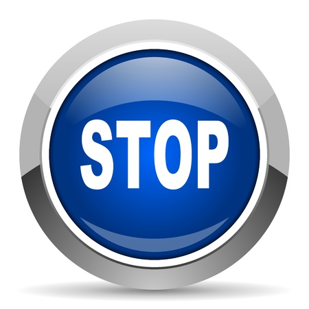 stop icon Stock Photo - 20468850