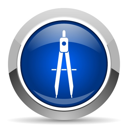 steel icon: e-learning icon  Stock Photo