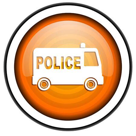 icono policia: icono de la polic�a Foto de archivo