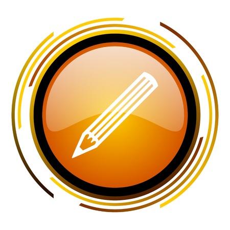 pencil icon Stock Photo - 20519802