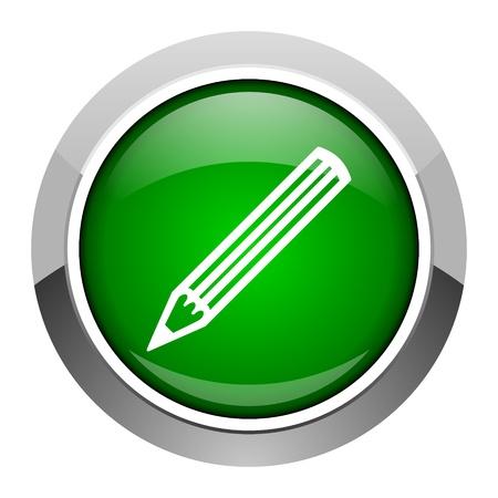 pencil icon Stock Photo - 20546378