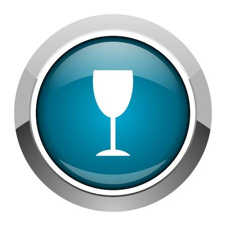 champain: glass icon  Stock Photo