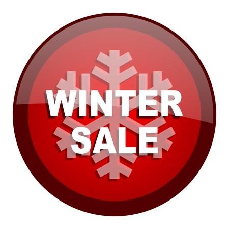 winter sale icon  photo