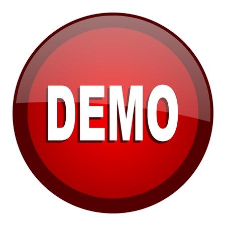 versions: demo icon  Stock Photo