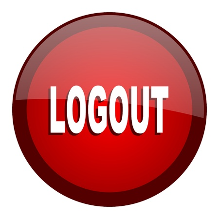 logout: logout icon  Stock Photo
