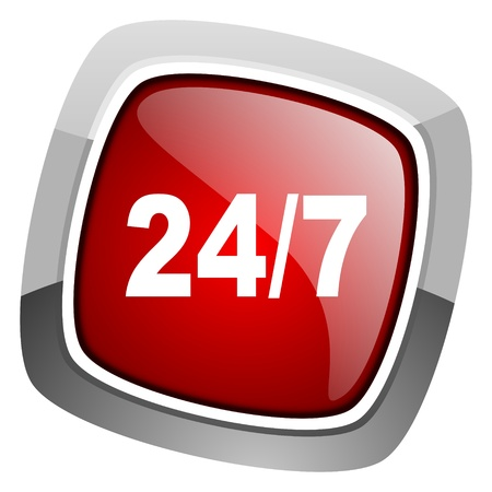 special steel: 247 icon  Stock Photo