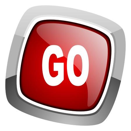 go icon Stock Photo - 20661670