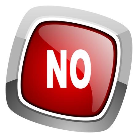 negate: no icon  Stock Photo