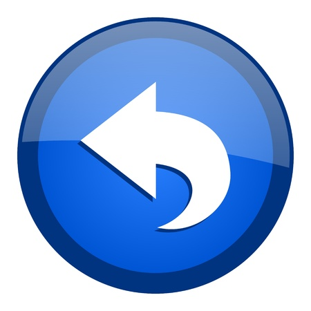 blue button: back icon