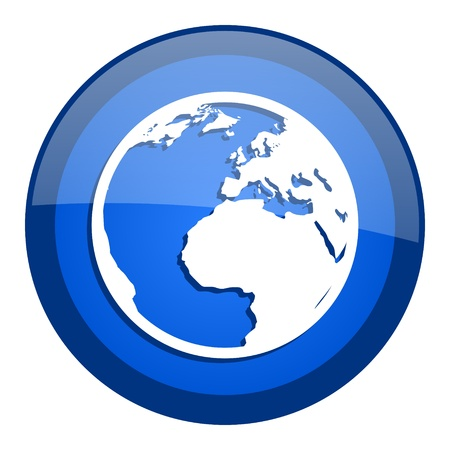 earth icon Stock Photo - 20699009
