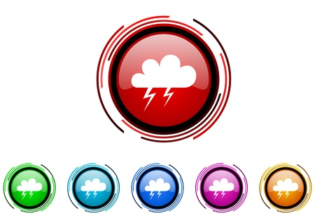 storm icon set  photo