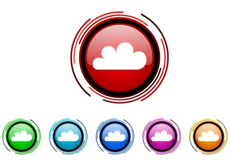 cloud icon set  photo