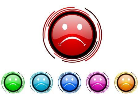 cry icon: cry icon set  Stock Photo