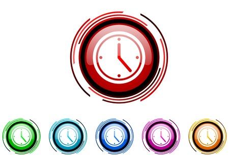 uhr icon: Uhr-Icon-Set Lizenzfreie Bilder