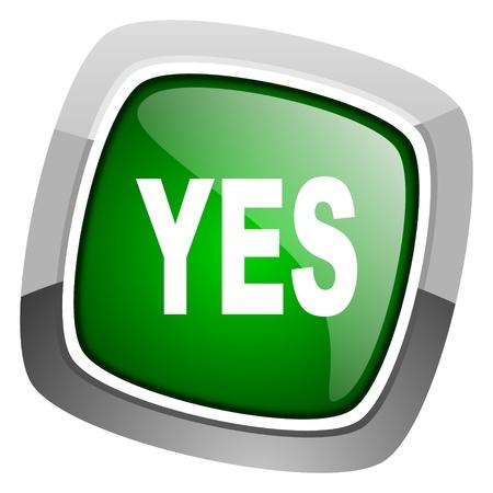 yes icon Stock Photo - 20697099