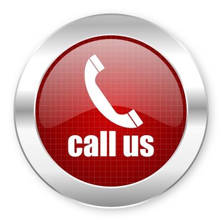 telephone operator: call us icon  Stock Photo