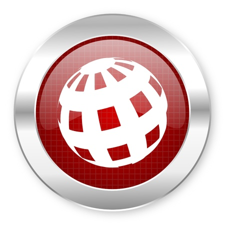 parallels: earth icon  Stock Photo