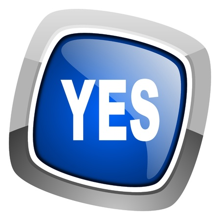 yes icon Stock Photo - 20813355